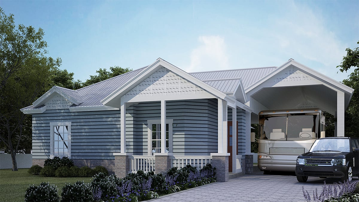 Rendering of the Domingo model of Reunion-Pointe's RV Port Homes