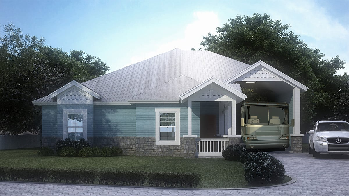 Rendering of the Eleuthera model port-home at Reunion Pointe