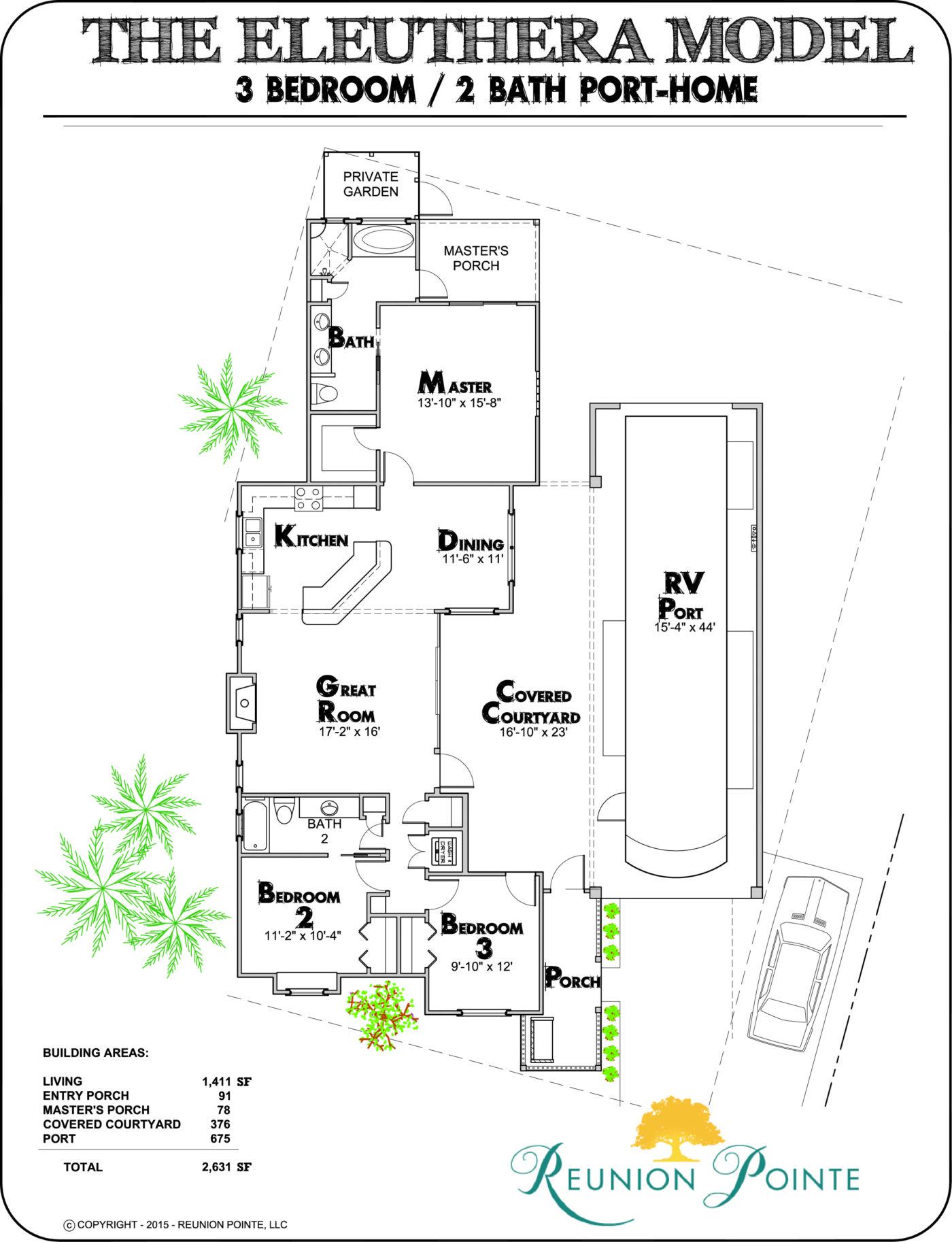 Eleuthera RV Port-Home Model Floorplan
