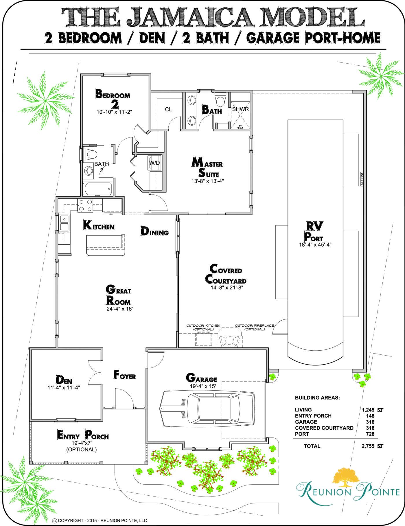 Jamaica RV Port-Home Model Floorplan