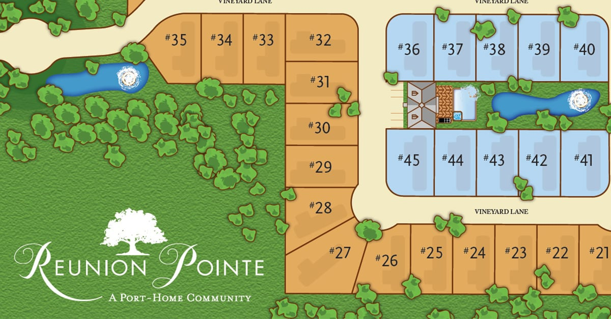Reunion Pointe lot plan featured image