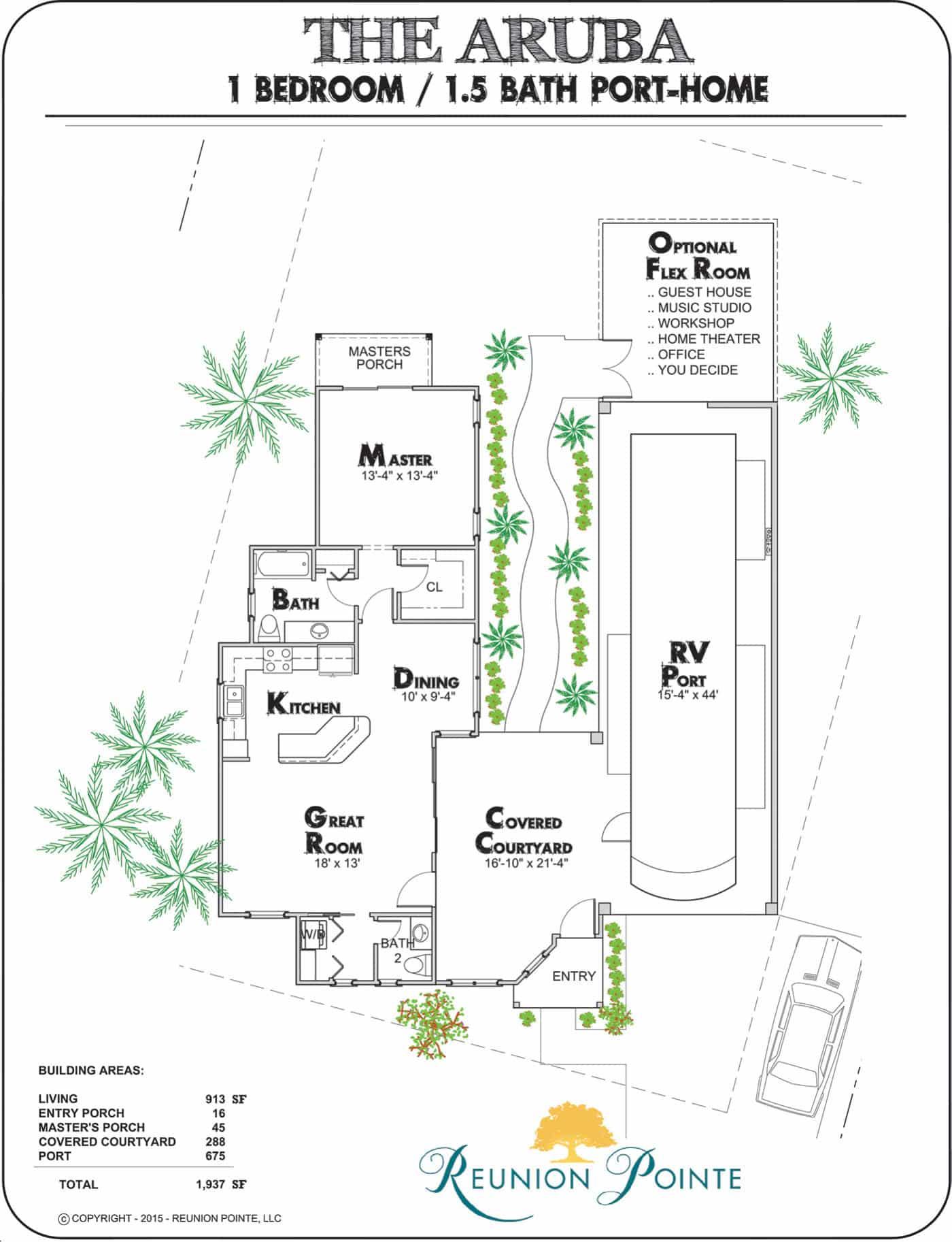 Aruba RV Port-Home Model Floorplan