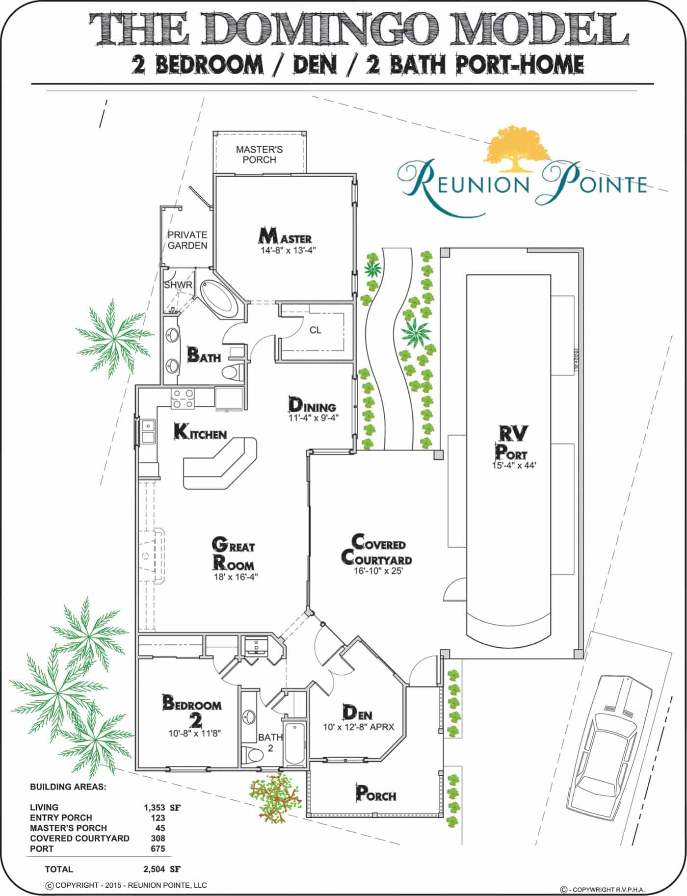 Jamaica RV Port-Home Model Floorplan