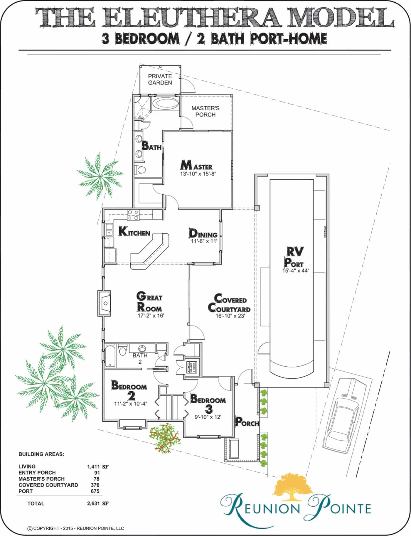 Eleuthera RV Port-Home Model Floorplan