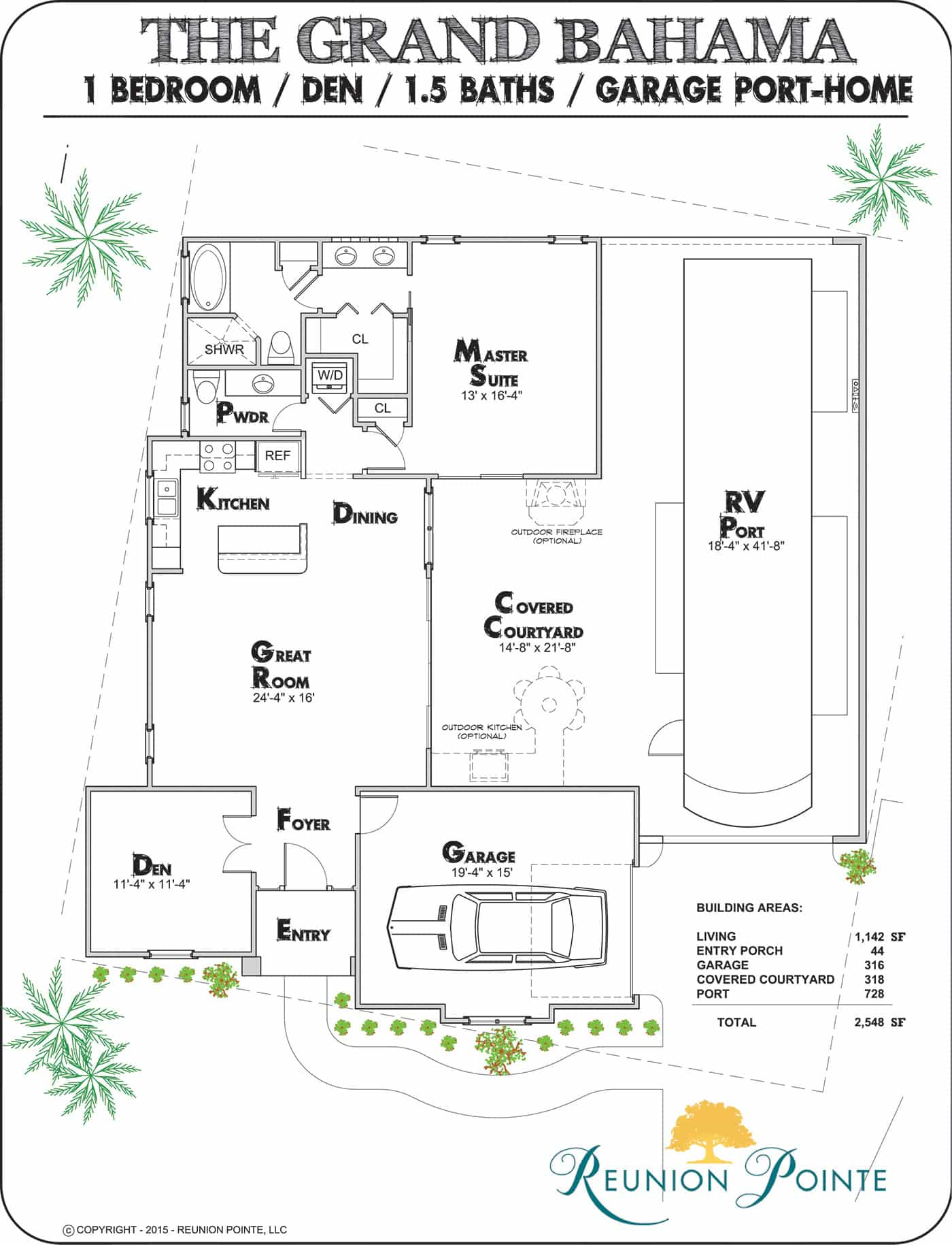 Grand Bahama RV Port-Home Model Floorplan