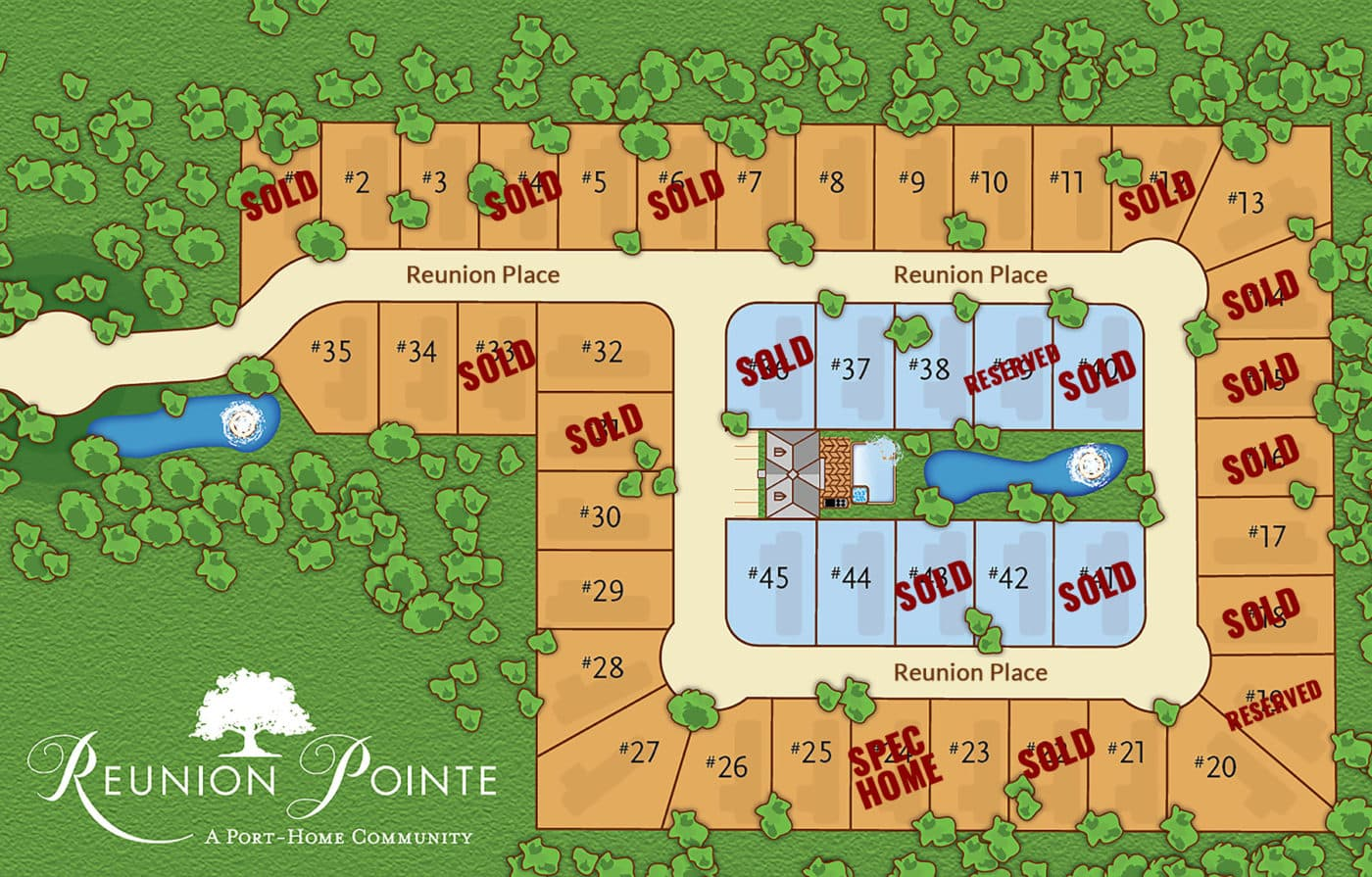 Reunion Pointe RV Port-Home Community lot plan