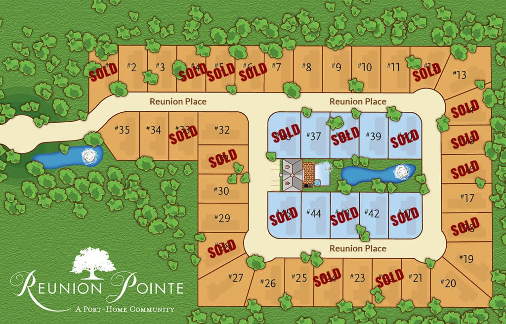 Reunion Pointe RV Port-Home Community lot plan